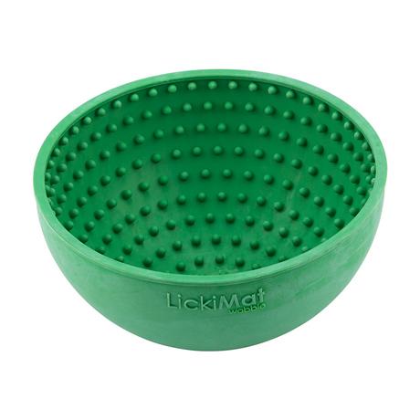 LickiMat Wobble Slow Feeder Boredom Buster Bowl Green