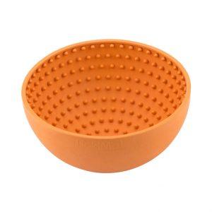 LickiMat Wobble Slow Feeder Boredom Buster Bowl Orange