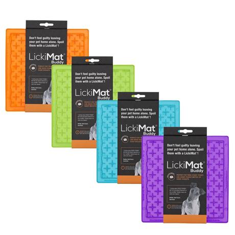 Lickimat Buddy Original Slow Food Anti-Anxiety Licking Mat Group