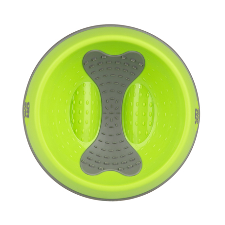 Oh Bowl Slow Food Tongue Cleaning Dog Food Bowl Group Lime