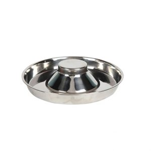 Stainless Steel Donut Puppy Saucer Small