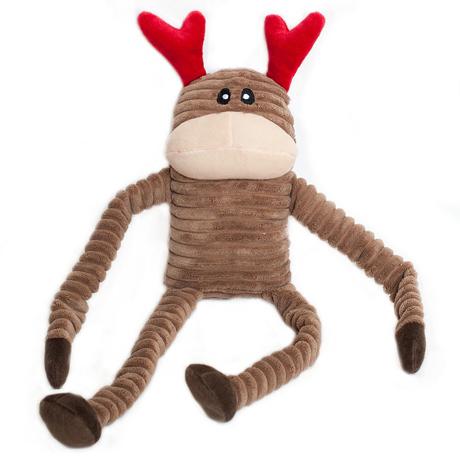 Zippy Paws Crinkle Reindeer