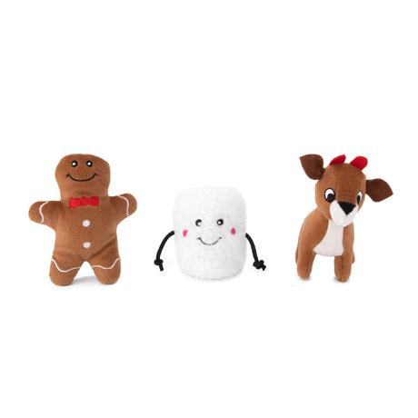 Zippy Paws Miniz Santa's Friends