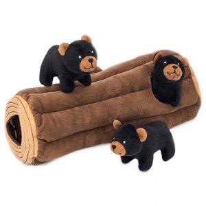 Interactive Burrow Black Bears and Log